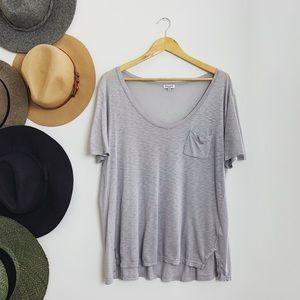Splendid Gray Pocket T-Shirt